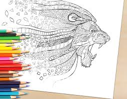realistic lion coloring pages coloring book pages selah works coloring books