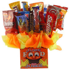 Junk Food Basket Junk Food Bouquet By Personalized Gift Baskets