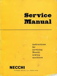 necchi service manual bu bf nova mira sewing machine industries