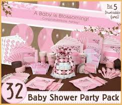girl themes for baby shower girl baby shower theme ideas pink floral pattern plate basket