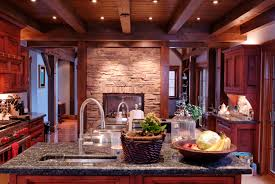 Dark Oak Kitchen Cabinets Kitchen Design 20 Photos And Ideas Rustic Wooden Kitchen