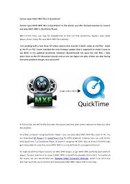 file format quicktime player cannot open xavc mxf files in quicktime 1 638 jpg cb 1423351639