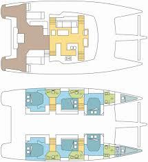 floor plan in french charter multihull ipanema 58