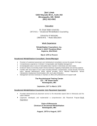Resume Counseling Professional Vocational Rehabilitation Counselor Resume Template