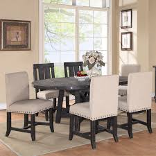 chair modus yosemite 8 piece oval dining table set with