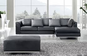 North Shore Dark Brown Sofa Inspiring Grey Leather Sectional Sofa With Modern Gray Design