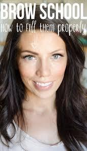 proper way to fill in eyebrows brow school eyebrow filling basics maskcara