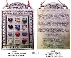 12 tribes stones ephod choshen the high priest chestpiece