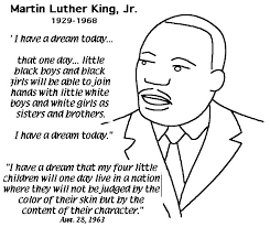 complete speech from martin luther king jr coloring page free