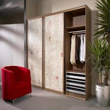 customized modern melamine mdf wardrobe with 3 sliding doors in