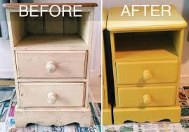 furniture up cycling project chalk paint bedside tables weddbook