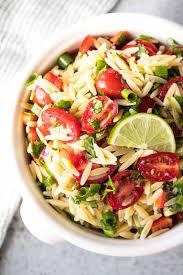 pasta salad cilantro lime orzo pasta salad