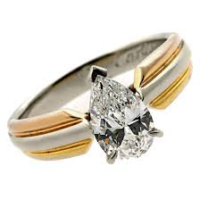 gold platinum rings images Cartier pear shaped diamond gold platinum engagement ring at 1stdibs jpg
