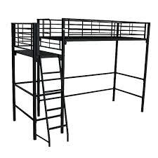 lit mezzanine 1 place bureau integre lit mezzanine noir avec bureau alexy lit mezzanine 1 place noir