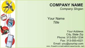 Appliance Business Cards Appliance Repair Business Card