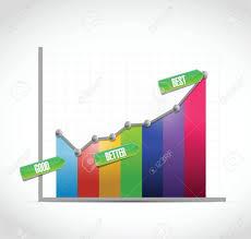 good better best color business graph illustration design over