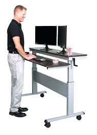 Stand Up Computer Desk Ikea Picturesque Adjustable Standing Desk Ikea Picture Sit Stand Legs