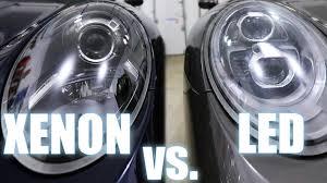 porsche headlights at night xenon vs led porsche pdls headlights also halogen youtube