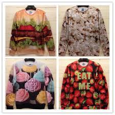 3d sweater sweaters 3d hamburger popcorn jumper sweater s m l