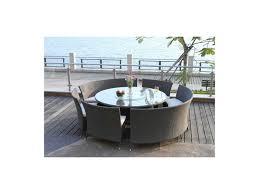 Table De Cuisine En Verre Avec Rallonge by Ensemble Table Ronde Et Chaise Salle A Manger