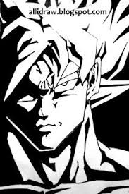 dragon ball drawings black white pictures pin