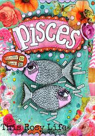 pisces art pisces art print astrology art by thisrosylife on