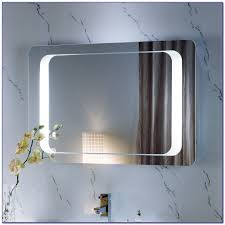 backlit bathroom mirror diy bathroom home decorating ideas