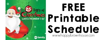 2015 abc family u0027s 25 days of christmas movie schedule with free