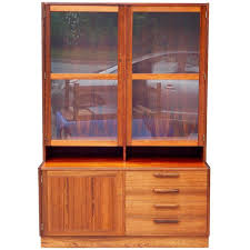 rosewood china cabinet for sale swedish mid century modern rosewood glass front cabinet circa 1960