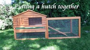 putting a rabbit hutch together youtube
