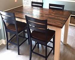 Rustic Farmhouse Dining Room Tables Counter Height Table Etsy