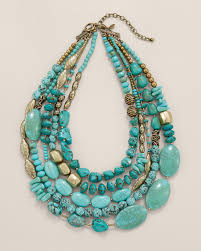 beaded statement necklace images A statement necklace designed with turquoise toned stones my jpg