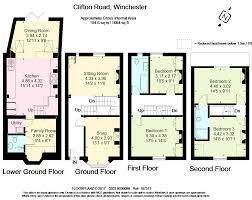 Winchester Mansion Floor Plan by 4 Bed Terraced House For Sale In Clifton Road Winchester