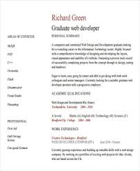 7 web developer resume templates free samples examples format