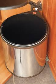Kitchen Cabinet Trash Can Under Cabinet Trash Can With Lid Roselawnlutheran