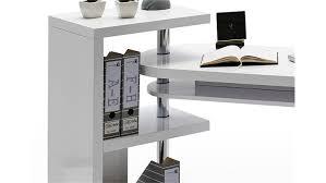 Schreibtisch Hoch Matt Bürotisch Tisch Weiß Hochglanz Lackiert