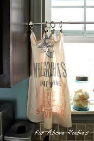 Feed Sack Curtains Far Above Rubies The Blue Kitchen