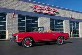 classic red mercedes 1971 mercedes benz 280sl fast lane classic cars