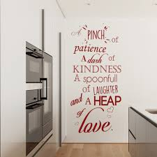 patience kindness laughter love recipe wall quote wall sticker patience kindness laughter love recipe wall quote wall sticker kitchen art decal
