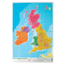 Map Of England And Ireland by Map Of The Uk U0026 Ireland Poster Lp549
