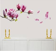large magnolia flowers mural art decal wall stickers amazon co uk large magnolia flowers mural art decal wall stickers amazon co uk kitchen home