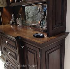 stained wood countertops bar tops blog custom stained wood countertops with glaze to match cabinetry