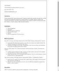 Resume Sample For Teaching by Professional Homeschool Teacher Templates To Showcase Your Talent