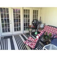 Safavieh Courtyard Indoor Outdoor Rug Safavieh Courtyard Stripe Black Bone Indoor Outdoor Rug Free