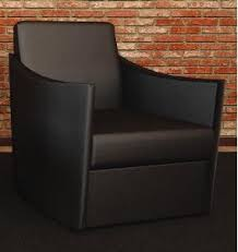 Reception Lounge Chairs Cherryman Chair 40 Verde Series Black Leather Lounge Chair For Sale