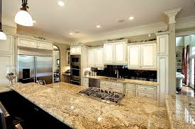 granite countertop dark grey cabinets kitchen 3d tile backsplash