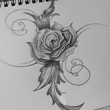 drawings of a rose business card size net