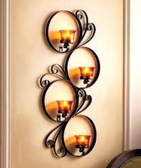 Wall Candle Sconces With Glass Sconce Black Metal Wall Candle Holder Metal Wall Candle Holders