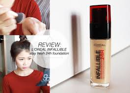 l 39 oreal infallible 24h foundation review first impression otherworldly loreal