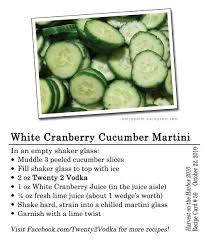 Vodka Martini Recipes That Are White Cranberry Cucumber Martini Twenty 2 Vodka America S Most